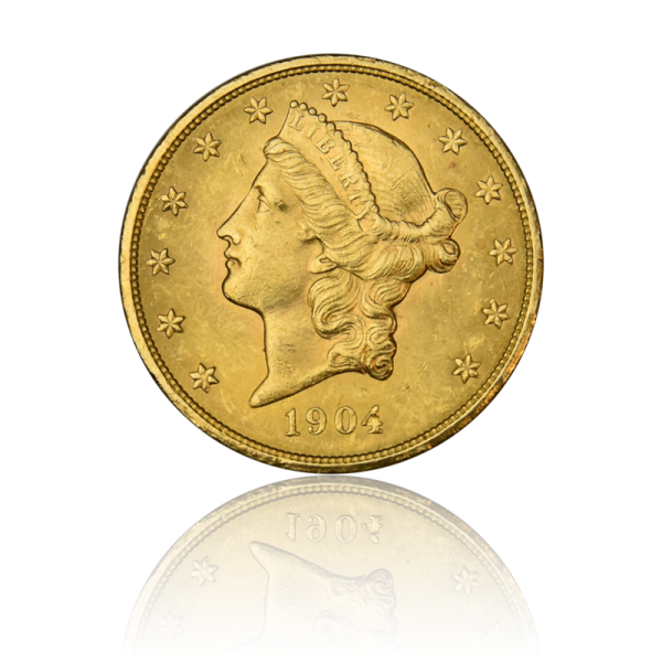 USA 20 $ 1904 Goldmünze Liberty Head - Double Eagle